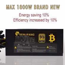 1800W 95 efficiency ATX12V V2 31 ETH Coin Mining Miner Power Supply Active PFC Power Supply
