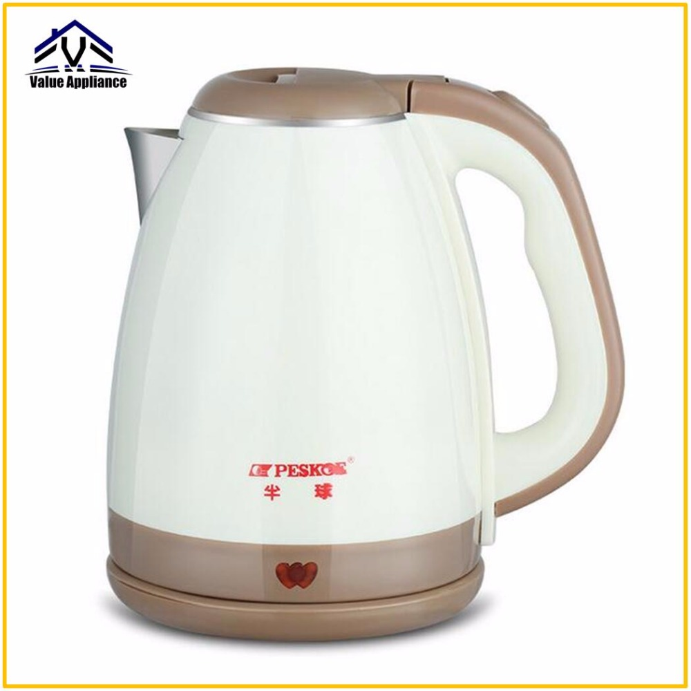 Quality 2L Electric Kettle Anti-scald 304 Stainless Steel Food Grade Household Large Capacity Quick Heating Electric kettle