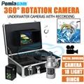 F08A 50 м кабель мягкий кабель 9 дюймов подводная камера система рыболовная камера монитор с 360 градусов камера с панорамированием лампа
