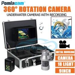 F08A 50 M kabel miękki kabel 9 cal Aparat podwodny system połowów ekran aparatu z 360 stopni panoramowanie kamery lampa światła