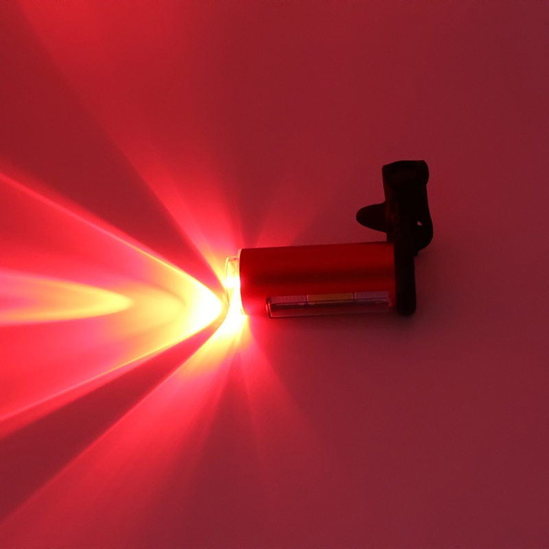 RU LED de 360 Grados de Luz Láser USB Recargable Impermeable 7 modos MTB Bike Lu