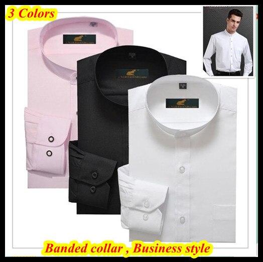 Top brand 38 44 slim fit hombres de camisa long sleeve for Dress shirt collar fit