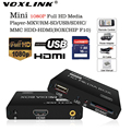 VOXLINK reproductor Multimedia Mini Full HD 1080 P HDD Media Player Soporte TV box HDMI MKV RM USB SD SDHC MMC HDD-HDMI (BOXCHIP F10)