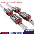 HGR25 линейная направляющая 25 мм 2 шт. линейная направляющая все длины + 4 шт. линейная карета HGH25CA или HGW25CC CNC части робота