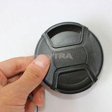 Универсальный держатель крышки объектива 77 мм для объектива DSLR камеры с центральной защелкой на переднюю защитную крышку объектива