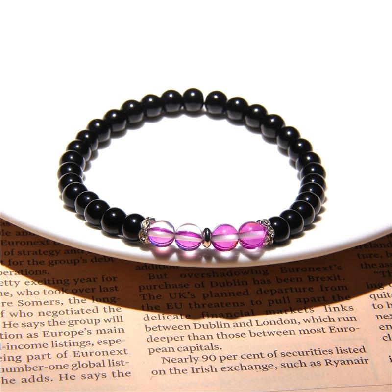 Fashion Moonstone Bead Bracelet NO Magnet Healing Hematite Women Weight Loss Bracelets for Couples Jewelry Handmade Making Gifts