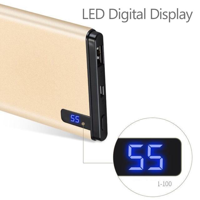 Slim 10000 mAh Power Bank,Portable Ultra-thin Polymer Powerbank battery power-bank 10000mah With LED Light for Mobile Phone 2