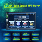 7'' Touch Screen Car Radio MP5 Player 2 DIN Bluetooth 1080P FM USB GPS Navigation with Rear View Camera Remote Control