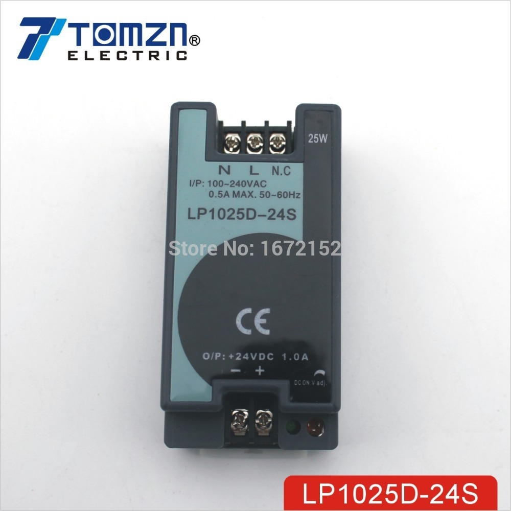 25W 24V 1A Mini size Din Rail Single Output Switching power supply 100-240V input оксидант ollin professional megapolis soft for oil dye 75 мл