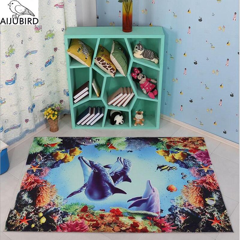 Tapis chambre d'enfants prix en gros pour garçon fille Multi-enfant maison imaginaire conception de bande dessinée série aquarium bébé tapis de jeu enfants