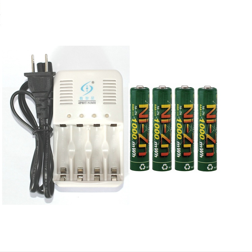Powerful 4 Pcs 1 6v aaa 1000mWh rechargeable battery nizn Ni Zn aaa 1 5v rechargeable