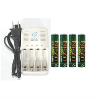 Free Shipping 4Pcs NiZn1 6V AAA1000mah Rechargeable Powergenix Battery NiZn Charger Set High Voltage For High