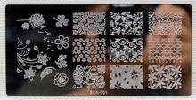 1 Piece Various Dandelion Flower Pattern Nail Art Stamp Template Image BCN-01 Stamping Plate DIY Gel Polish