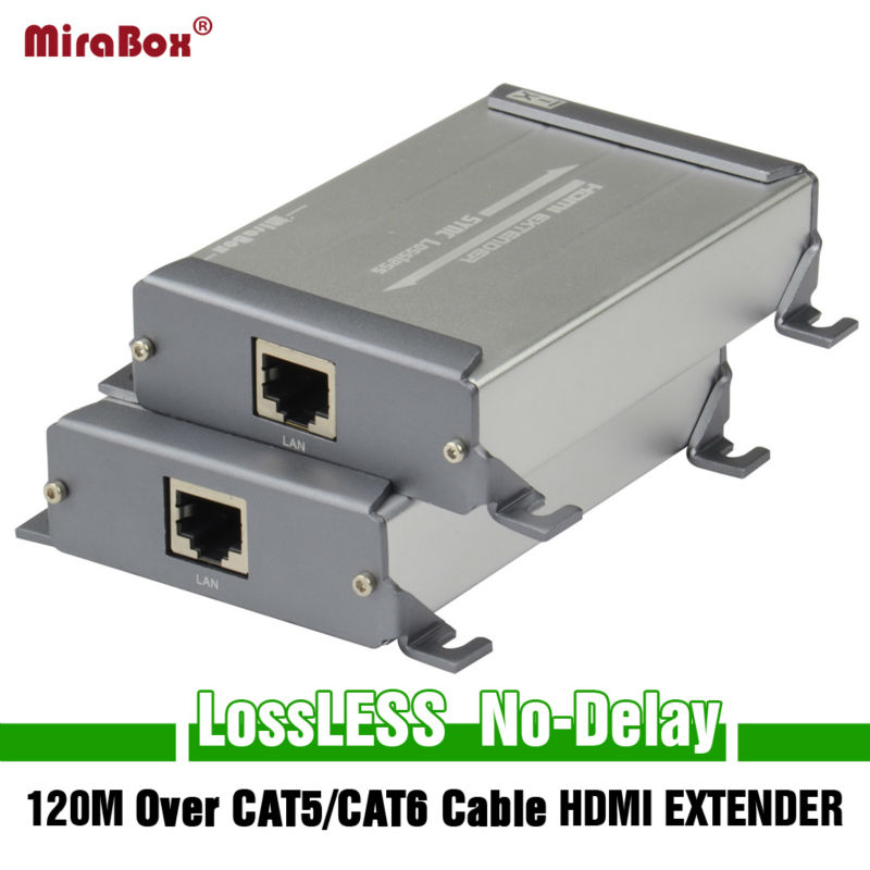 MiraBox HDMI Network Extender Sender&Receiver Over Cat5/Cat5e/Cat6 Rj45 Ethernet Transmission Full HD1080p HDMI POE Extender