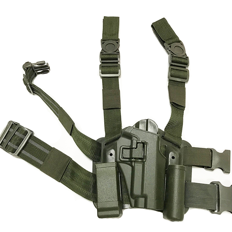 Image 5 - Sig Sauer P226 Gun Left / Right Hand Leg Holster w/ Magazine Flashlight Pouch Military Hunting Airsoft Air Gun Carry Holster-in Holsters from Sports & Entertainment