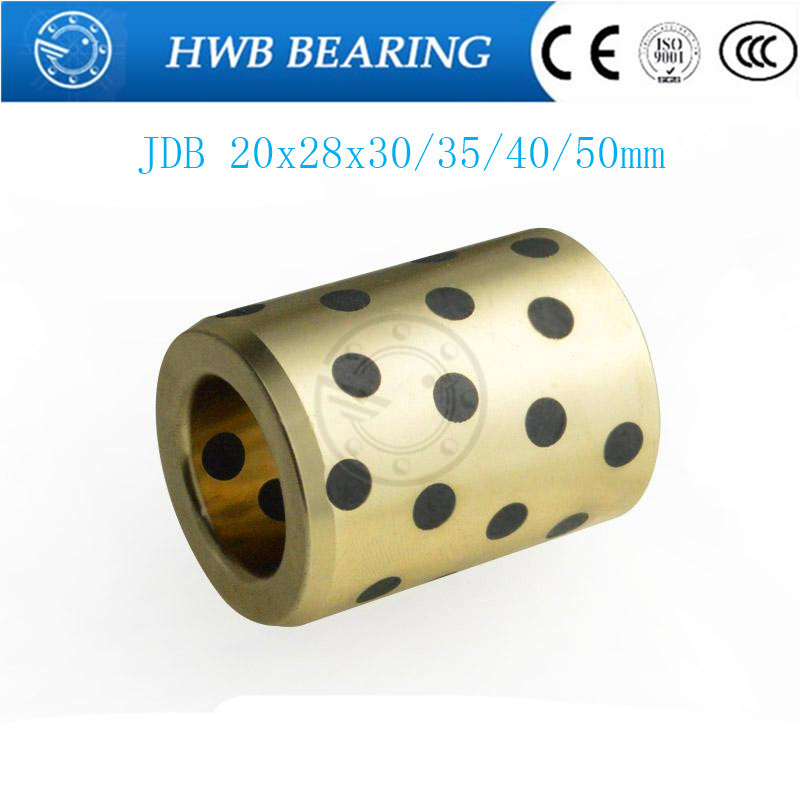 linear graphite copper set bearing copper  JDB202830 JDB202835 JDB202840 JDB202850 bushing oil self-lubricating bearing jdb 406080 copper sleeve the same size of lm12 linear solid inlay graphite self lubricating bearing
