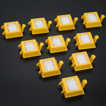 10Pcs Sweeping Robot Vacuum Cleaner Accessories HEPA Filter Replacement For IRobot For Roomba 700 Series 760 770 780 Model new 6 armed lateral brush for irobot roomba 500 600 700 series 510 530 532 550 560 620 625 760 770 780 vacuum cleaner part