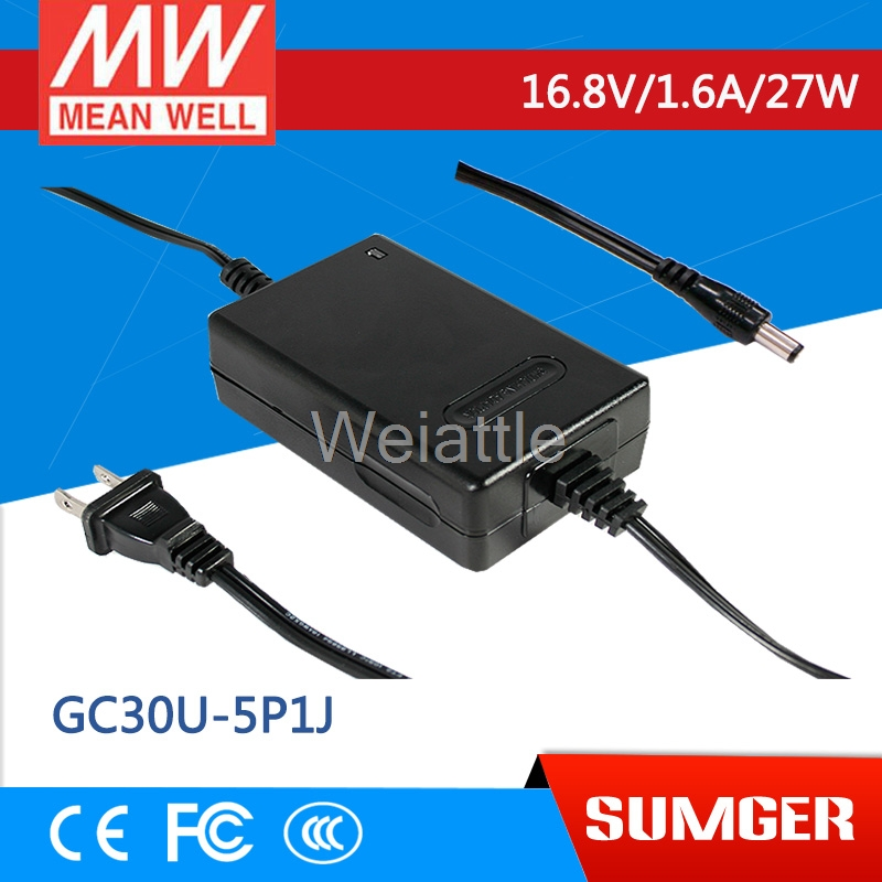 MEAN WELL original GC30U-5P1J 16.8V 1.6A meanwell GC30U 16.8V 27W Power Adaptor with Charging FunctionMEAN WELL original GC30U-5P1J 16.8V 1.6A meanwell GC30U 16.8V 27W Power Adaptor with Charging Function