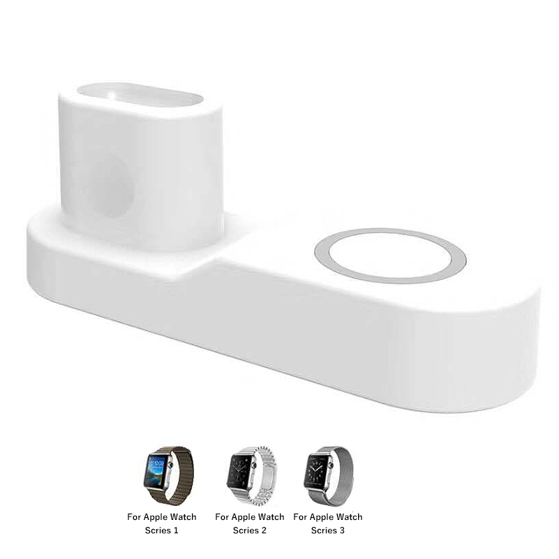 Multi Function USB Type C QI Wireless Charger Station For iPhone 8 plus X XS Apple Watch iWatch 3 2 1 Fast Charging Adapter