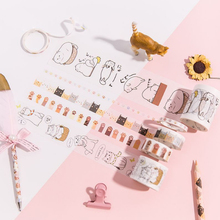 6pcs/box 5-50mm*3m Cute cat set washi tape DIY decoration tape scrapbooking masking tape adhesive tape label sticker stationery цены