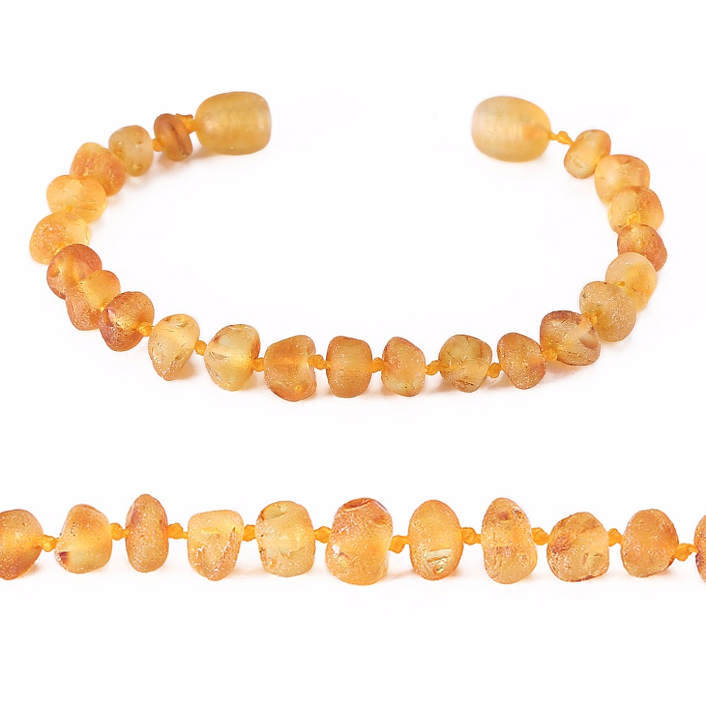 Baltic Amber Teething Bracelet for Baby - Simple Package - 10 Colors - 2 Sizes - Lab Tested