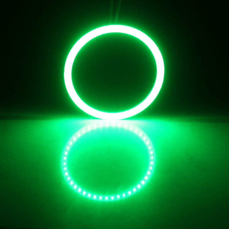 2x Angel Eyes 60mm 70mm 80mm 90mm 100mm 110mm 120mm Halo Ring Car Led Fog Light Motorcycle Daytime Running Light DRL Headlight (6)