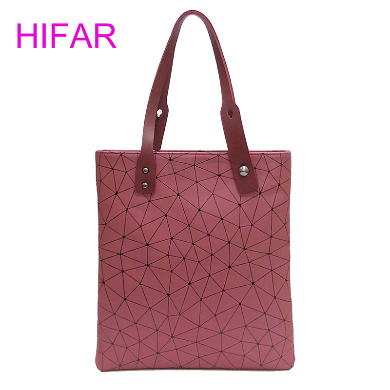 2018 Fashion tote PU leather Bag Women hand Bags summer Geometric bao Handbag ladies Famous Brands Shoulder Bags Bucket bag big