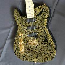 2017New Artfit  Oem James Burton Gold Paisley China Musical Instruments Electric Guitars Free Shipping Guitare
