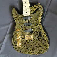 2017New Artfit Oem James Gold Paisley China Musical Instruments Electric Guitars Free Shipping Guitare