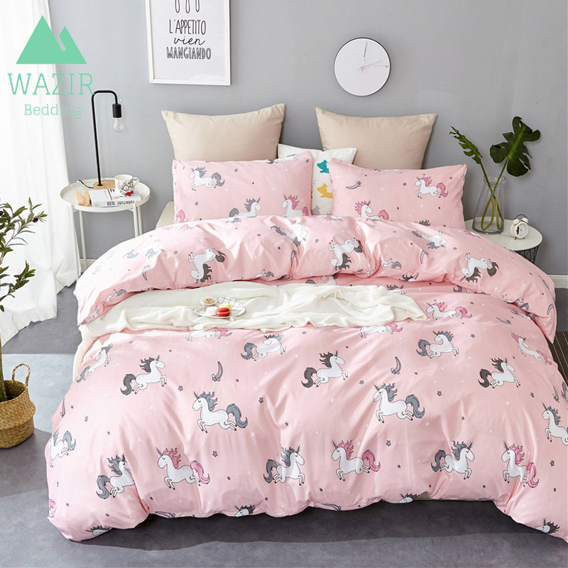 Nordic Simple Style Unicorn Bedding Set Twin Queen King