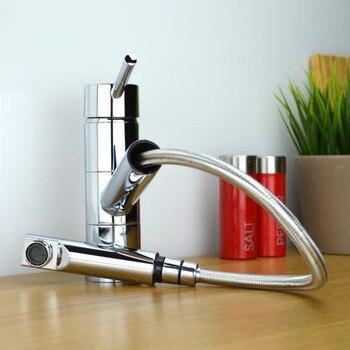 Contemporary Modern Compact Chrome revolving Kitchen Sink Mixer Tap Faucet