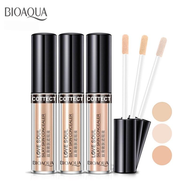 Bioaqua Face Makeup Concealer Liquid Brush Convenient Rotary Professional Brand 3 Colors Optional
