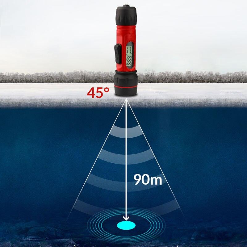 Erchang F12 Portable Sonar Fish Finder Digital Handle Echo Sounder Waterproof Sonar Sensor 0.8-90m Depth Ice Fishing Fishfinder portable fish finder bluetooth wireless echo sounder underwater bluetooth sea lake smart hd sonar sensor depth
