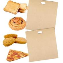 1pcs Reusable Toaster Bag Non Stick Sandwich Bags Grilled Cheese Made Coated Fiberglass Toast Microwave Heating Pastry Tools(China)