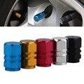 2016 4 unids/pack Antirrobo De Aluminio Coche Neumático de Válvulas del Neumático de la Rueda Del Vástago Caps de Aire Hermético Cubierta de plata color de la venta caliente