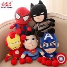 Hot Cute 30cm Q style Spider man Captain America Stuffed toys Super hero Batman plush soft