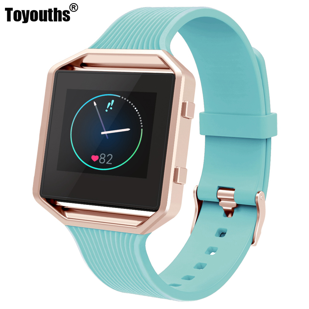 Soft Silicone Strap for Fitbit Blaze Smart Fitness Watch Adjustable Replacement Light Weight Waterproof Sport Bracelet BandSoft Silicone Strap for Fitbit Blaze Smart Fitness Watch Adjustable Replacement Light Weight Waterproof Sport Bracelet Band