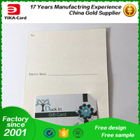 Gift Card With Card Case Art Paper Material Customized Factory Price