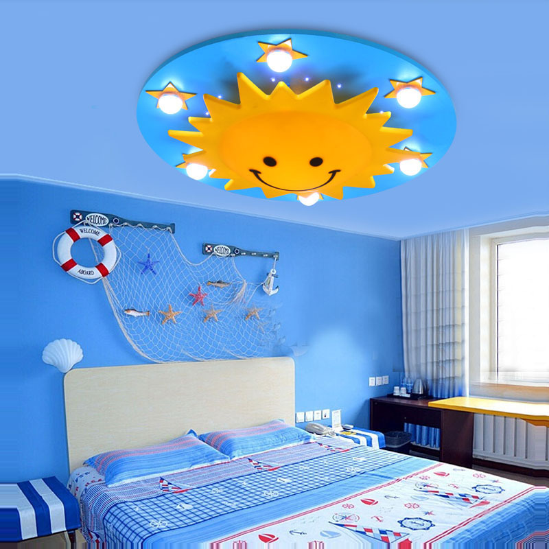 Modern children 39 s room night light sunshine shape baby led for Kids room night light