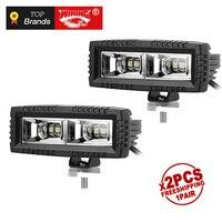 Freeshipping pair 40W LED Work Light High Power Flood beam LED Offroadlight for Car ATV SUV 4WD Pickup Motorcycle LED XML2 Chips