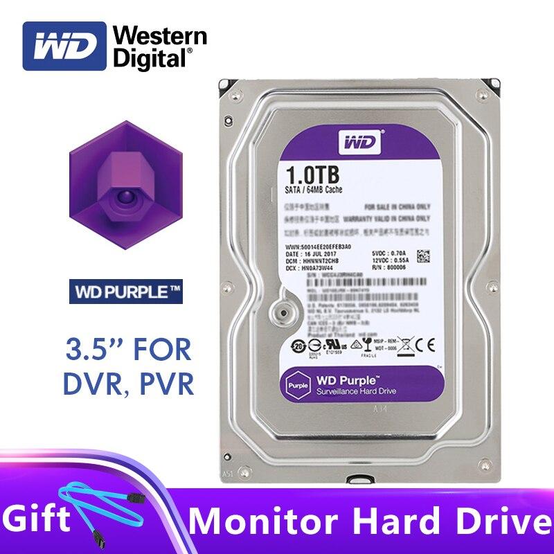 Original WD Purple Surveillance HDD 1TB 3 5 5400RPM SATA 6Gb s 64MB Cache Internal Hard
