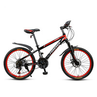 Mountain Bike Teenager Student Bicycle Light Variable Speed Double Disc Brake 21 Speed 22 Inchs Aluminum Alloy Rim Bicicleta HT