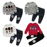 MUQGEW Yenidoğan Erkek Bebek Kız Elbise Uzun Kollu Kazak Sweatshirt Karikatür Kostüm Tops + Pantolon Giyim Giyim Set ABD Depo