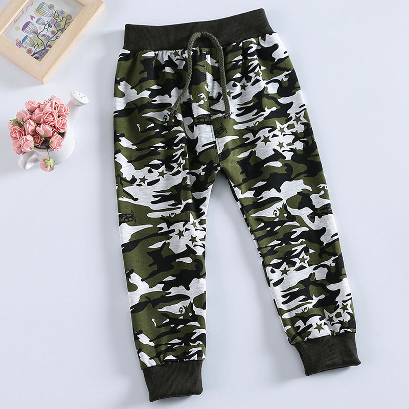 2016 ניו מכירת חמה האביב תבנית הסוואה ג 'ונגל צבאי כותנה תינוק מכנסיים מכנסיים ספורט מכנסיים תינוק 0-36 חודשים