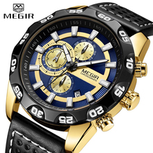 цена MEGIR Watch Men Fashion Luxury Sport Quartz Watch Mens Watches Full Steel Waterproof Business Wristwatches Relogio Masculino онлайн в 2017 году
