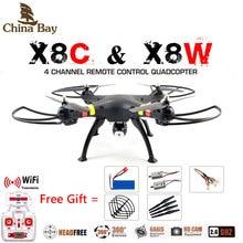 SYMA x8w y x8c FPV RC Quadcopter 6-Axis Drone Profesional Con Cámara de 2MP WiFi RC Helicóptero Con La Batería Y 2 Motores Como regalo