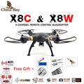 Syma x8w & x8c fpv rc quadcopter 6-axis zangão profissional com Câmera de 2MP WiFi RC Helicóptero Com Bateria E 2 Motores Como presente