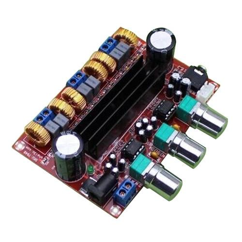 HFES New Amplifier Board TPA3116D2 50Wx2+100W 2.1 Channel Digital Subwoofer Power 12~24V diy triangle spanner panel lock w key silver