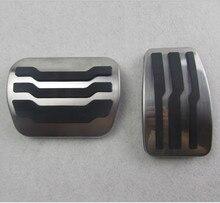Aço inoxidável Anti-derrapante F150 Freio Gás Pedal Pads Substituição Directa Para 2005-2015 Ford F150 Freio Pedal Do Acelerador
