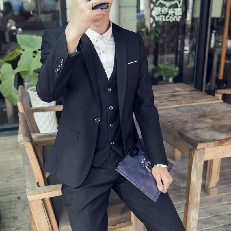 (Jackets+Vest+Pants) New Burgundy black Men Suits Slim Fit Tuxedo Brand Fashion Bridegroon Business Dress Wedding black Suits Blazer (2)_conew1